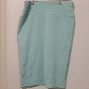 Large Mint Lularoe Cassie Skirt